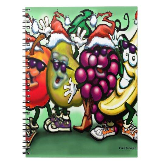 Fruity Christmas Spiral Notebook