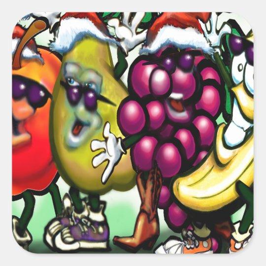Fruity Christmas Square Sticker
