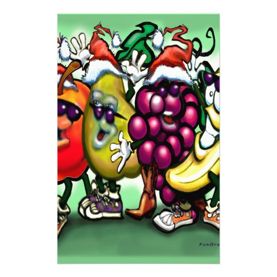 Fruity Christmas Stationery