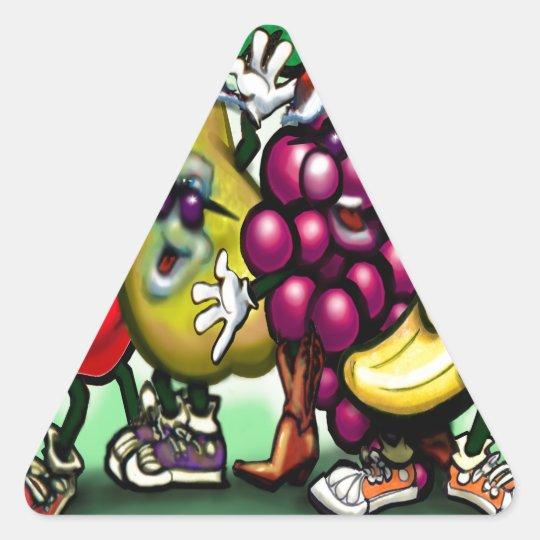 Fruity Christmas Triangle Sticker