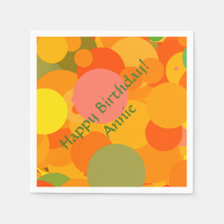 Fruity Circles Paper Napkin