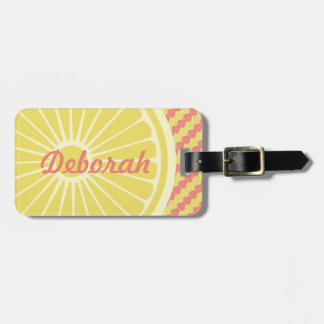 Fruity Citrus Monogram and Name Luggage Tag