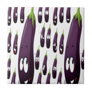 Fruity design small square tile