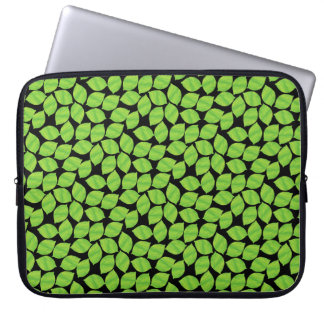 Fruity Green Limes, Black Background to Customize Computer Sleeves