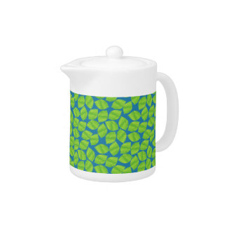 Fruity Green Limes on Blue Background to Customize