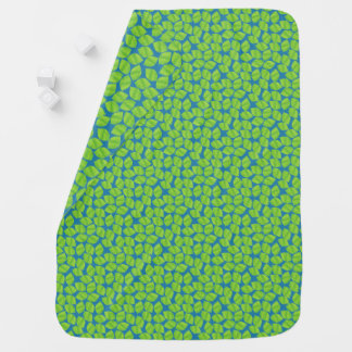 Fruity Green Limes on Blue Background to Customize Baby Blanket