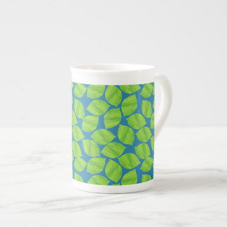 Fruity Green Limes on Blue Background to Customize Tea Cup