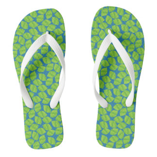 Fruity Green Limes on Blue Background to Customize Thongs