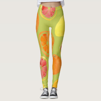 Fruity Leggings with Lime Green Backgroun