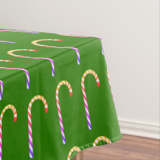 Fruity Multicolored Candy Cane Pattern Tablecloth
