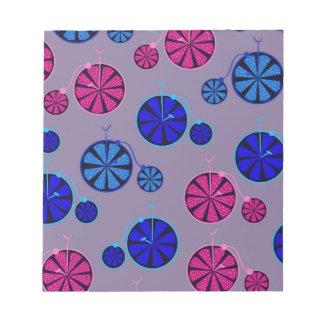 Fruity ride pattern notepad