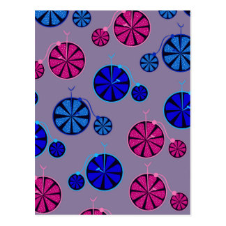 Fruity ride pattern postcard