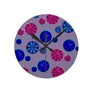 Fruity ride pattern round clock