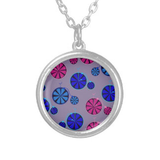 Fruity ride pattern silver plated necklace