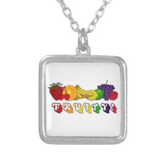 Fruity! Square Pendant Necklace