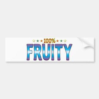 Fruity Star Tag v2 Bumper Stickers