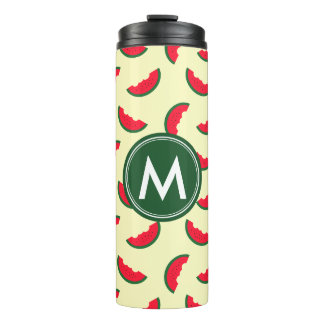 Fruity Summer Red Watermelon Monogram Thermal Tumbler