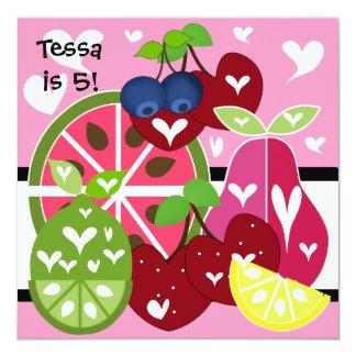 Fruity Sweet Birthday Invitation