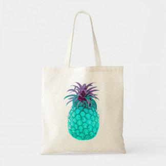 Fruity Teal Pineapple Tote Budget Tote Bag