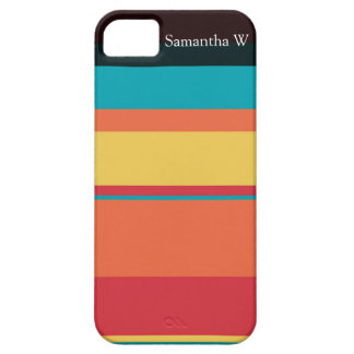 Fruity Tropical Tonal Stripes Case For The iPhone 5