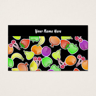 Fruity Wallpaper, Your Name Here Business Card
