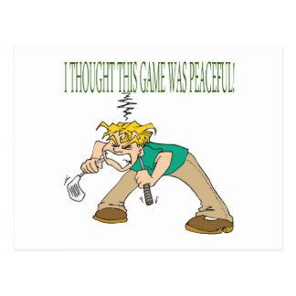 Frustrated Golfer Postcard