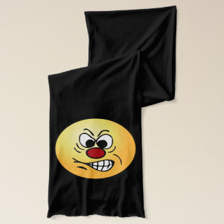 Frustrated Smiley Face Grumpey Scarf