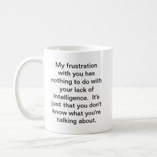 Frustration Basic White Mug