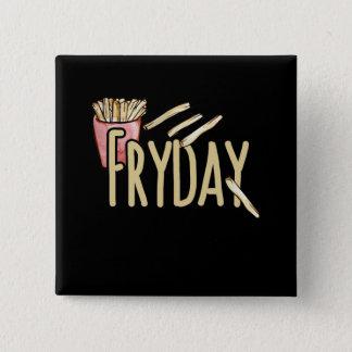 fryday 15 cm square badge