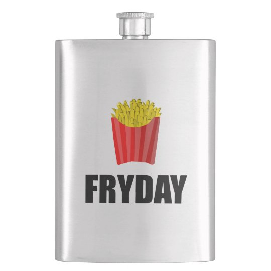 Fryday Friday Fries Hip Flask