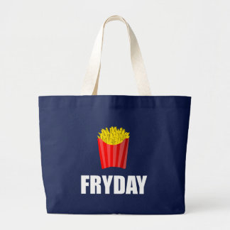 Fryday Friday Fries Large Tote Bag