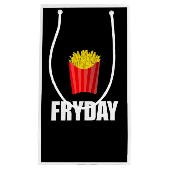 Fryday Friday Fries Small Gift Bag