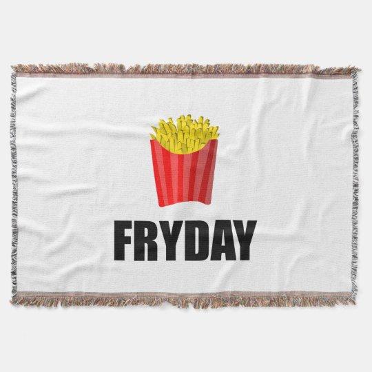 Fryday Friday Fries Throw Blanket