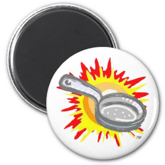 Frying Pan Gurl Frying Pan 6 Cm Round Magnet