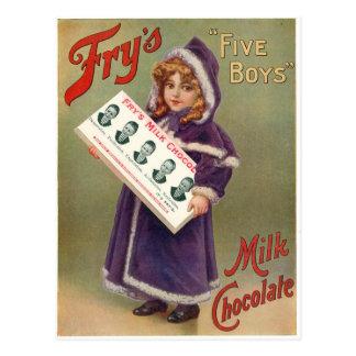 Fry's Milk Chocolate Christmas Ad Post Cards