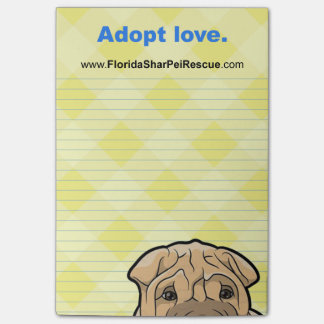 FSPR Post It Pad - Adopt Love. Post-it Notes