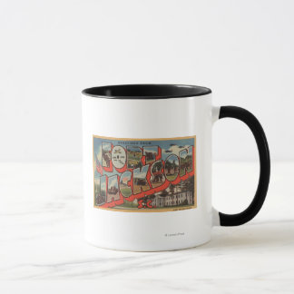 Ft. Jackson, South Carolina - Large Letter Scene Mug