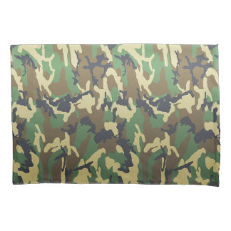 FTA Woodland Camouflage Camo Pattern Pillowcase