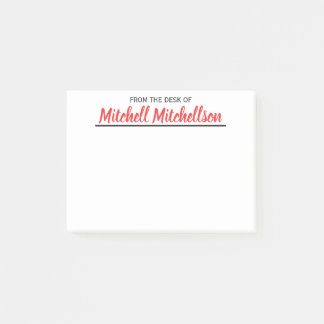 FTDO Beloved Red Personalized Post-it Notes