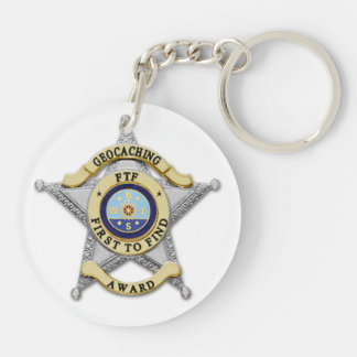 FTF - First to Find - 1st to Find Double-Sided Round Acrylic Key Ring