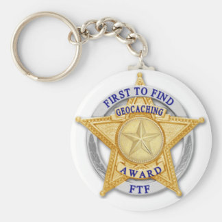 FTF - First to Find Award Basic Round Button Key Ring