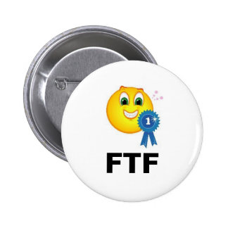 FTF First to Find Ribbon Geocaching Swag 6 Cm Round Badge