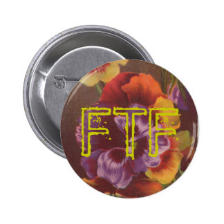 FTF Pansy Swag For Your Geocache 6 Cm Round Badge