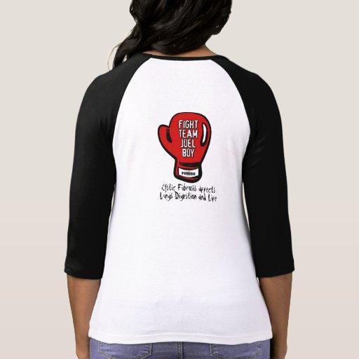 FTJB Ladies Mdm Raglan Blk Shirts
