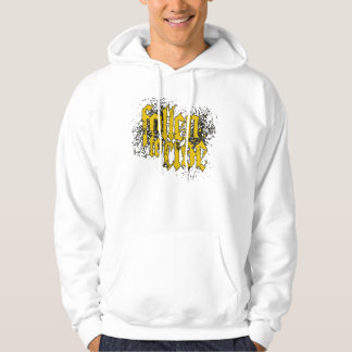 FTR Logo yellow on white Hoodie