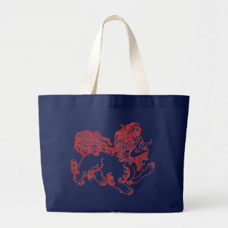 Fu Dog, Foo Dog Large Tote Bag