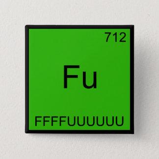Fu - FFFFUUUUUUU Funny Element Meme Chemistry Tee 15 Cm Square Badge