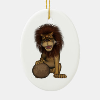 Fu Lion Ceramic Ornament