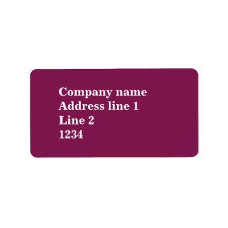 Fuchsia Address Label