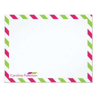 Fuchsia Airmail Personal Stationery Card